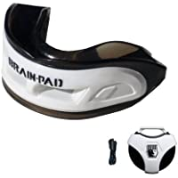 Brain-Pad 3XS Triple Laminated Mouthguard with Special Formulated Super Gel Pads, White/Black, Adult by Brain Pad