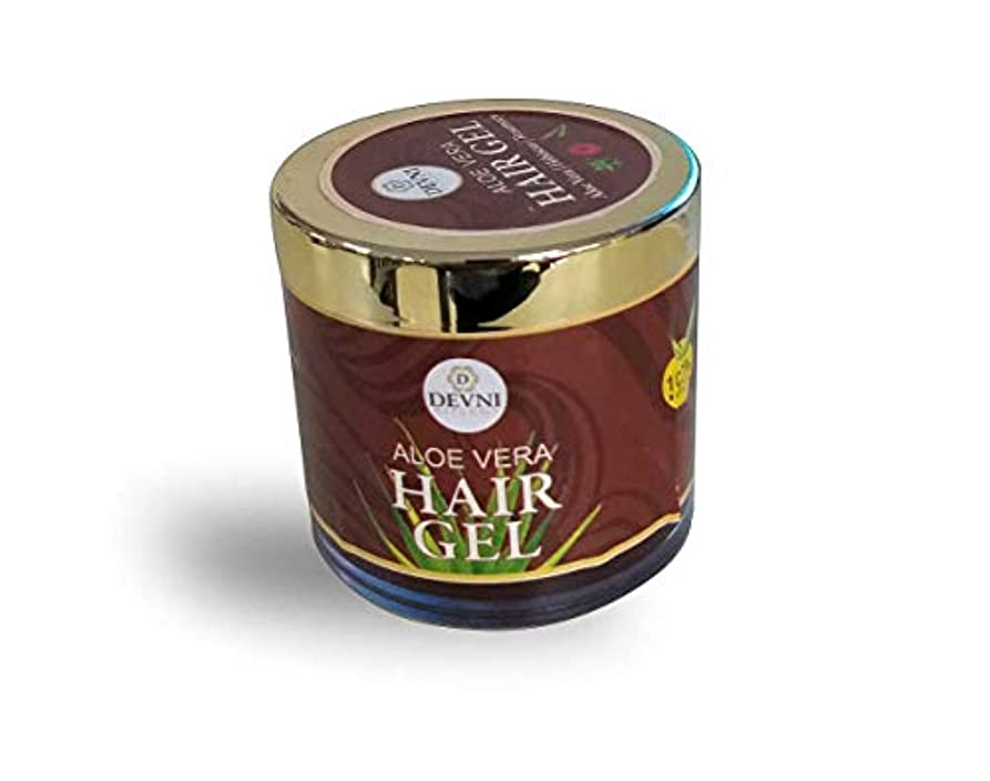 外側空のポルティコAloe Vera Hair Gel 100 gm - 100% natural Hair Gel for stronger Hair Growth - Promotes Scalp Health & Anti Hair...
