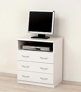 クロシオ フレッシュテレビボード Neo ホワイト 幅60奥行41高さ70cm