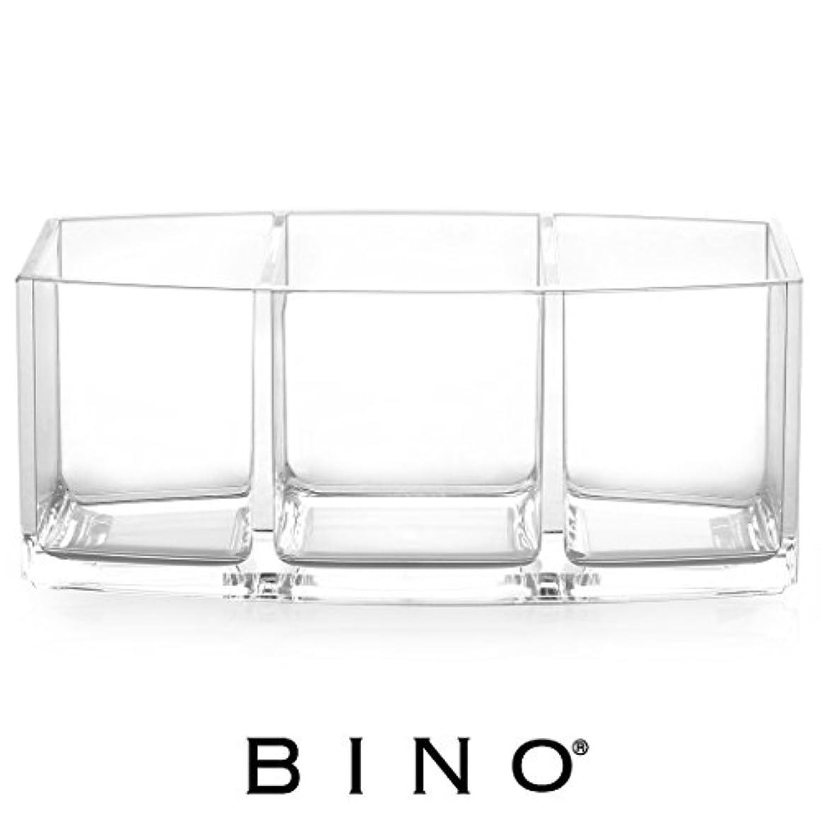 パトロール音解体するBINO 'Keep It Simple' 3 Compartment Acrylic Makeup and Medicine Cabinet Organizer by BINO