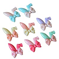 カボション ビーズ 蝶 ウサギの耳 ジュエリー作り DIY アクセサリー カード作り 装飾 約16個