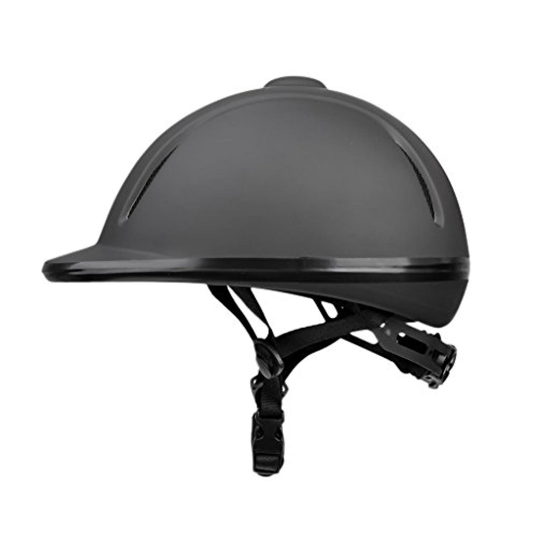 Baoblaze 乗馬用ヘルメット 安全 通気性抜群 調節可能 馬具 軽量 ブラック 全4サイズ