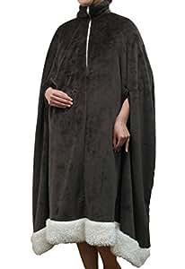 着る毛布「フラン」【IT】【tm】フリーサイズ:110×140cmブラウン(#9895450)
