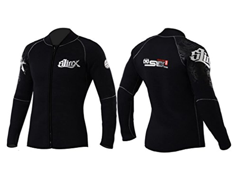 MORGEN SKY ウェットスーツ 男女兼用 5mm/3mm 長袖ジャケット タッパー フロントジッパー 裏保温起毛素材 MS1109