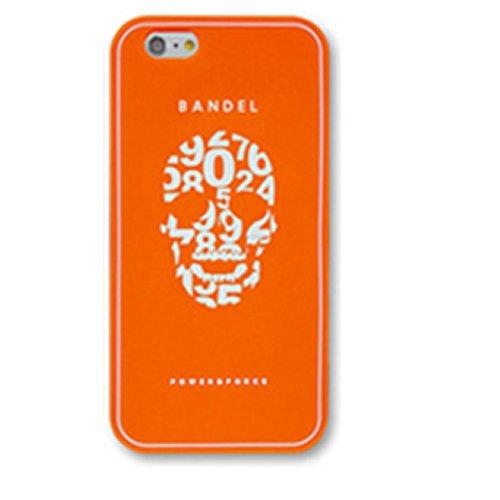 BANDEL iPhone7ケース オレンジ スカル 0