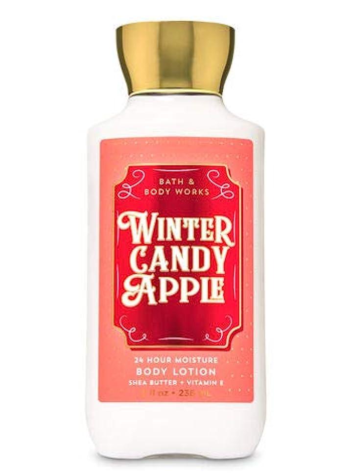 値する脚ミニチュアバス&ボディワークス ウインターキャンディアップル ボディローション Winter Candy Apple Body Lotion [並行輸入品]