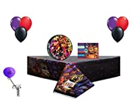 Five Nights At Freddys Party 8 Guest Party Decorating Kit ~ Lunch Plates Lunch Napkins Table Cover Balloons [並行輸入品]