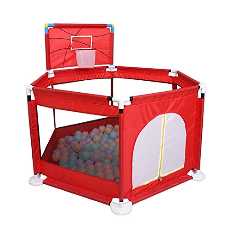 バスケットシューティングボックス付きのベビープレイペン安全活動センター遊び場遊び場での屋外と屋内のポータブルプレイ