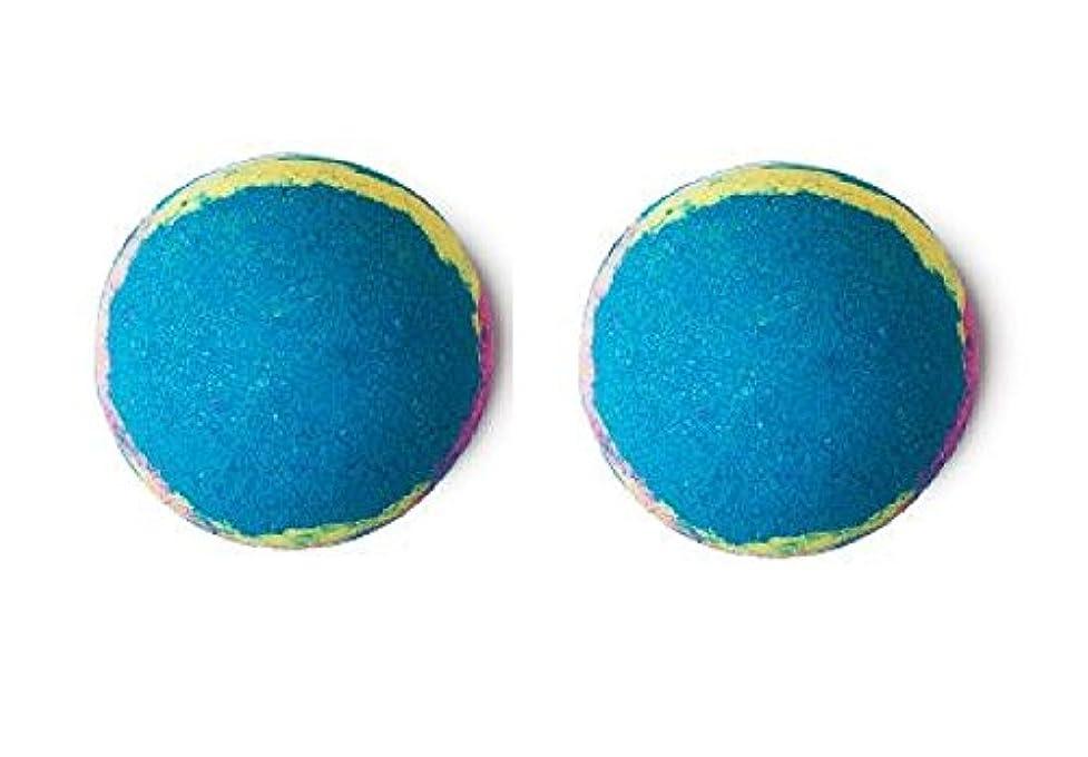 ご注意マートブッシュLUSH ラッシュ インターギャラクティック 200g バスボム 浴用 ペパーミント 入浴剤 マンダリン 自然派化粧品 天然成分 Intergalactic 入浴剤 ギフト×(2個セット)