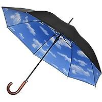 FIELDOOR ブルースカイアンブレラ/青空傘 ワンタッチジャンプ機能 (完全遮光 / UVカット率99.9% / UPF50+ / 遮熱加工)