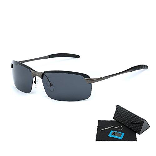 [해외]Shushu Jacob 편광 선글라스 골프 드라이브 남성 스포츠 선글라스 UV400 자외선 차단 알루미늄 - 마그네슘 합금 초경량/Shushu Jacob polarized sunglasses golf drive men`s sports sunglasses UV400 ultraviolet cut aluminum - magnesium alloy s...