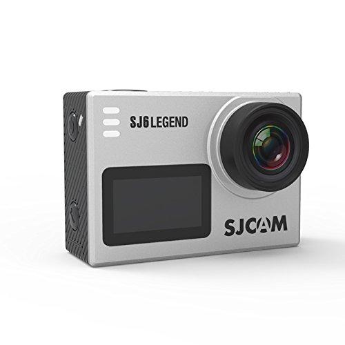 SJCAM社製 SJ6 Legend アクションカメラ Panasonic製CMOSセンサー搭載 手振補正 4K Wifi 防水30m 1600万画素 166°超ワイドレンズ 自転車 水中カメラ バイク ドライブレコーダー サーフィン スキー スノボ ダイビング (シルバー)