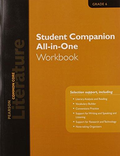Download Pearson Literature 2015 Common Core Student Companion All-In-One Workbook Grade 06 0133271145