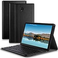 IVSO Samsung Galaxy Tab S4 10.5 SM-T830 (Wi-Fi)/SM-T835 (LTE) キーボード 専用 Samsung Galaxy Tab S4 10.5 SM-T830 (Wi-Fi)/SM-T835 (LTE) keyboard ケース スタンド機能カバー Newモデル ワイヤレス 一体型 手帳型 PUレザーケース付き 電池内蔵 持ち運び便利 無線キーボード サムスン Galaxy Tab S4 10.5 SM-T830 (Wi-Fi)/SM-T835 (LTE) 対応 ブラック