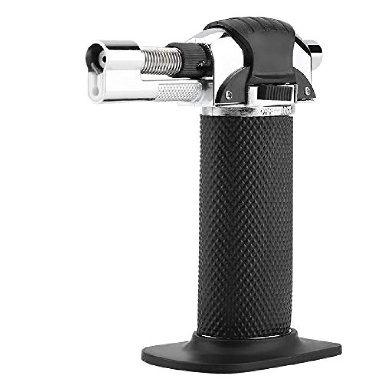 リダクターマーキー全国Qiilu ガスライター ターボライター 防風ライター BBQライター 炎自由調整 安全ロック付き 軽量デザイン 充填式 キャンプ 旅行 バーベキュー最適 ケース付き