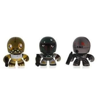 Star Wars スターウォーズ 2010 Exclusive Mini Mighty Muggs Vinyl Figure 3Pack #3 Bossk, Boba Fett IG88 フィギュア 人形 おもちゃ (並行輸入)