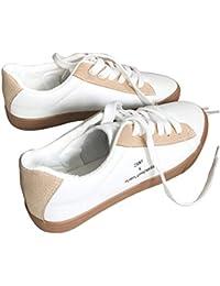 Sadovug キャンバスレディースシューズ女性の靴ファッションホワイトシューズfor学生 (Color : Camel, サイズ : 39)