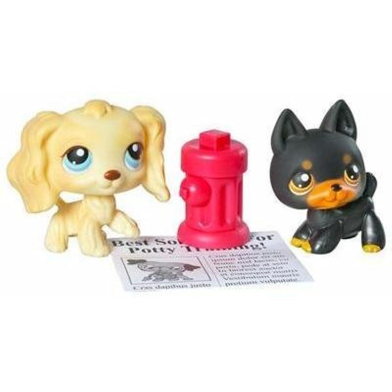 Littlest Pet Shop Pet Pairs Figures 2 Doggies Potty Training by Hasbro [並行輸入品]