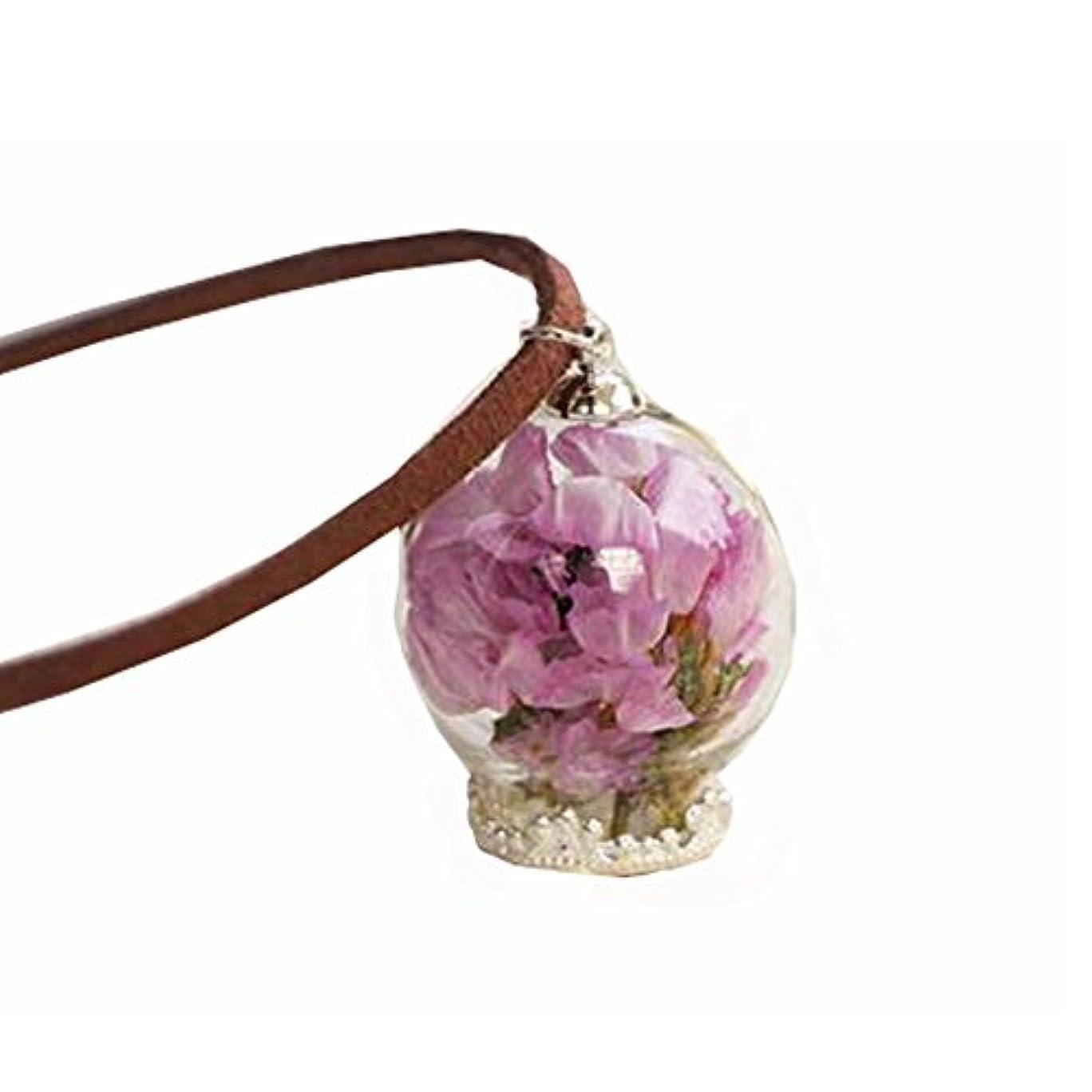 ダッシュ野心興奮する美しい乾燥した花のペンダントネックレスセーターの装飾品のセットナイスギフト