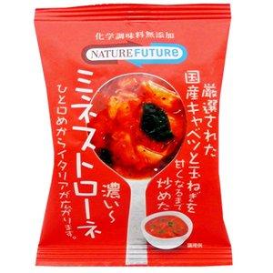 無添加 フリーズドライ 国産キャベンツと玉ねぎをじっくり炒めた ミネストローネ 30食入 (即席 トマト スープ) (コスモス食品)