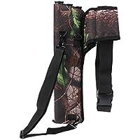 Lovoski 屋外 狩猟 アローホルダー 矢印バッグ 矢筒 腰矢筒 弓袋 3チューブ 腰側 迷彩 全2色