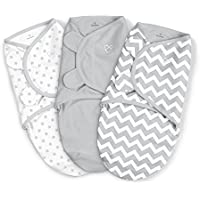 SwaddleMe 3-Pack Grey Chevron and Stars - Small by Summer Infant