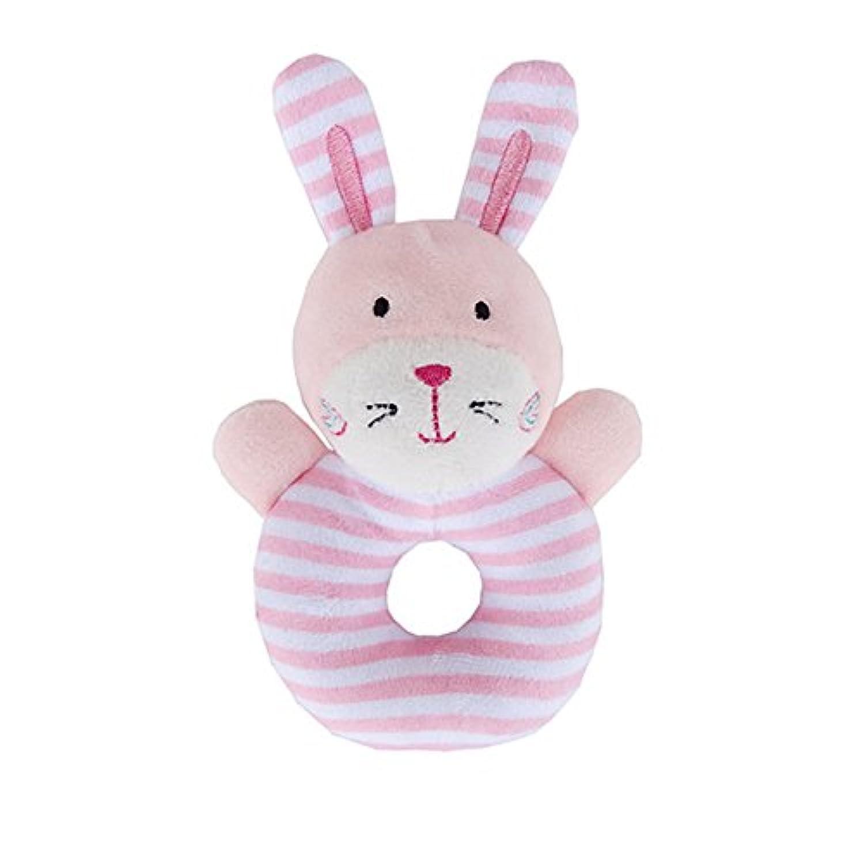 Qiyun Rattle Baby Rattleソフトコットンリングベルおもちゃかわいい動物形状for Kids Infant Newborns CY-1123-YL2