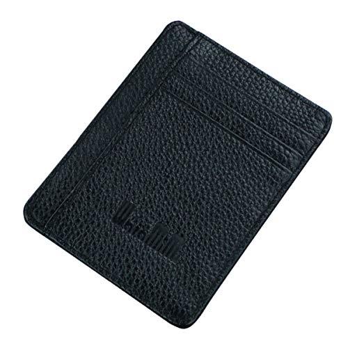 waramimi 革 パスケース 定期入れ スリム Suicaケース レディース icカードケース かわいい スイカケース メンズ 免許入れ 薄型 IDカードケース シンプル ICOCA Pitapa プレゼント7色(ブラック)