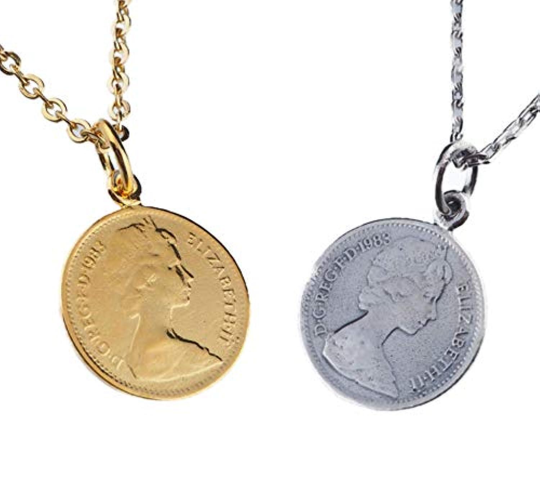 aBALENT(アバレント)ペア エリザベスネックレス ペアネックレス コイン ペンダント メンズ レディース silver925 お揃い ギフトケース付き ペア価格