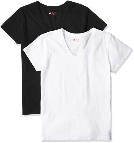 (ヘインズ)Hanes Tシャツ ジャパンフィット FOR HER Vネック 2枚組 アソート [レディース]