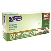 Nicole Home Collection 05023 Vinyl Gloves, Medium, White (Pack of 100) [並行輸入品]