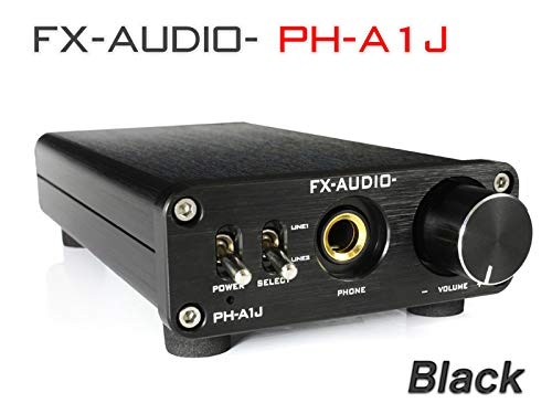 FX-AUDIO- ヘッドフォンアンプ パワートランジスタディスクリート構成 ブラック PH-A1J B078MP5C64 1枚目