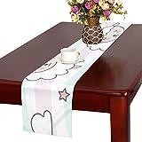 GGSXD テーブルランナー 親しい 羊 クロス 食卓カバー 麻綿製 欧米 おしゃれ 16 Inch X 72 Inch (40cm X 182cm) キッチン ダイニング ホーム デコレーション モダン リビング 洗える