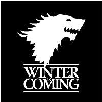 KUNFINE Game of Thrones GOT WINTER IS COMING 冬来たる 文字 カーステッカー ステッカー デカール 個性的 汎用 車用品 (ホワイト)