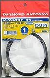 第一電波工業 ダイヤモンド  M-SMA変換ケーブル 1m 2D1SR