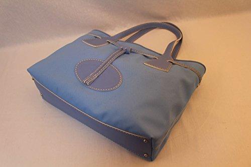 新古品 Tod's トッズ コーテイングPVトートバッグ ブルー 17080012
