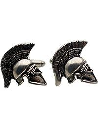 Spartan CufflinksローマグラディエーターヘルメットCufflinks Military Cufflinks