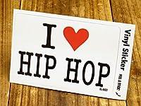 ステッカー アイラブ I LOVE HIP HOP ヒップホップ_SC-IL002-GEN