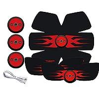 腹部のトナー、腹部のステッカースポーツ腹部を受け取るためにスマートフィットネス楽器薄いウエストのステッカー(赤)