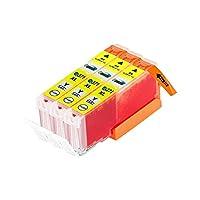 eBARONG (CANON キヤノン キャノン) 互換インクカートリッジ インクタンク BCI-371XL (Y イエロー 黄色) 残量表示機能対応 ICチップ付 3本セット