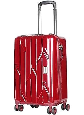 (ディプロマット)Diplomat ファスナー スーツケース TSAロック 2色 軽量PC 鏡面 アルミフレーム キャリーケース ビジネス 旅行 TC-1584 L レッド