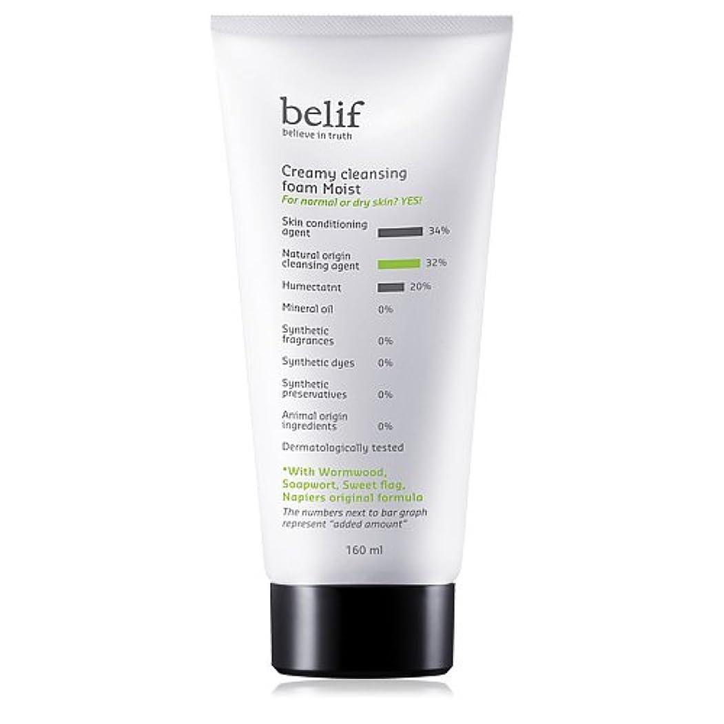 湿度テクニカル植物学Belif(ビリーフ)Creamy cleansing foam moist 160ml[ビリーフクリーミークレンジングフォームモイスト]