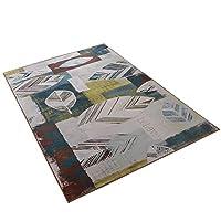 古典的な家の抽象芸術の敷物現代のファッションソフト多機能リビングルームのソファ寝室リラックス読書用マルチカラー敷物様々なサイズのカーペット(140x200cm) (サイズ さいず : 140*200CM)