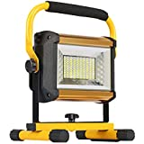 OTYTY 8000LM 100W COB Rechargeable Portable LED Work Light [100LEDs,1000W Equivalent], Waterproof LED Flood Lights for Outdoor Camping Hiking Emergency Car Repairing Workshop Job Site Lighting (W850)