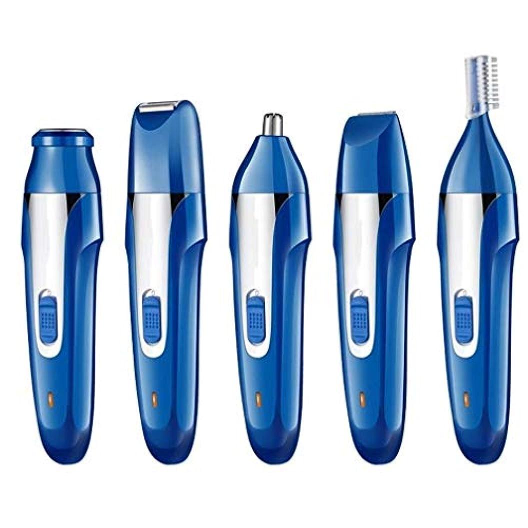 さておき大声でパラダイス鼻毛トリマー - 電動脱毛器具、USB充電器、リップヘア、眉毛形削りナイフ、5つ1つ、ポータブル、ユニセックス (Color : 2)