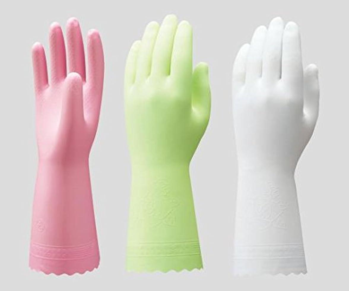 順応性大きさ負ショーワグローブ2-9143-01ビニトップ手袋薄手裏毛無ホワイトS