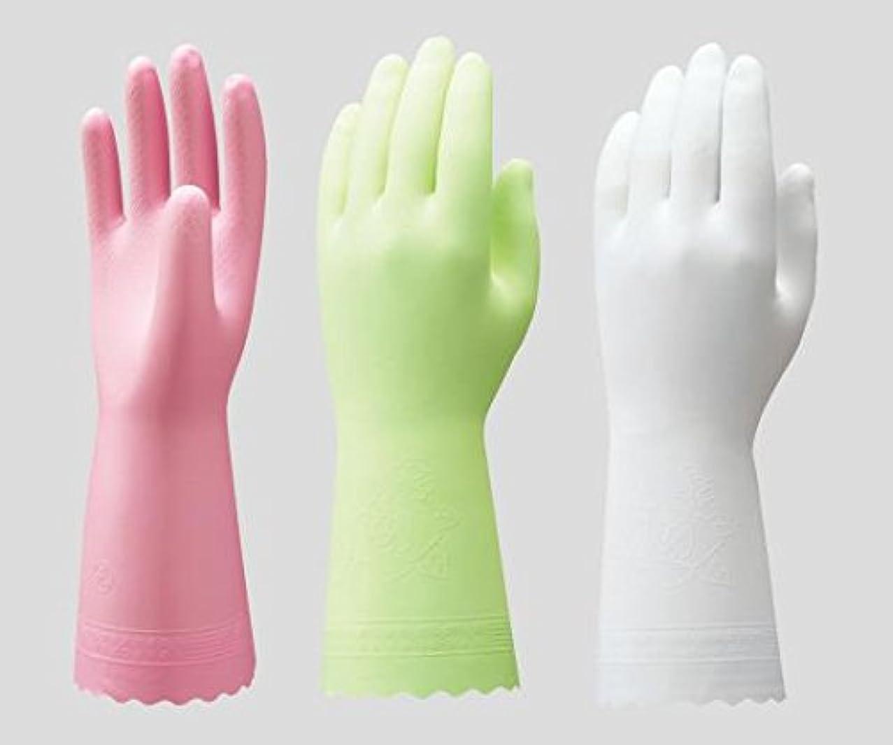 郵便局繊毛枯渇ショーワグローブ2-9143-05ビニトップ手袋薄手裏毛無ホワイトL