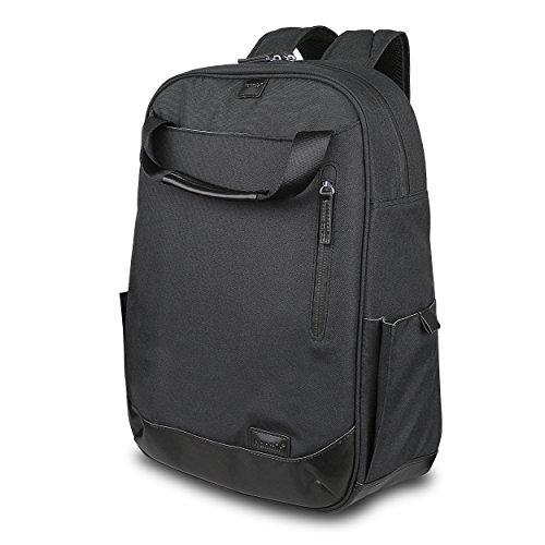 サイベナ Saiveina Hanmir バックパック ブランド 14  デイパック  ラップ トップ Laptop コンピュータ バックパック  Backpack ビジネスバックパック リュックサック  鞄  バッグ メンズ 旅行 通勤 通学 出張 日帰り トラベル 防水 アウトドア(ブラック)