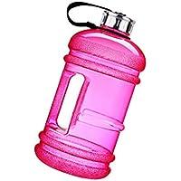Fenteer ユニークなダンベル デザイン ウォーターボトル 大容量 2.2L スポーツジャグ 漏れ防止 耐久性 全7色