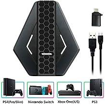 RasTec キーボードマウスアダプター ゲーミングキーボードマウスコンバーター 操作簡単 接続タップ 転換アダプター Nintendo Switch/PS4/PS3/Xbox One/Xbox 360 など対応 6311 変換アダプター